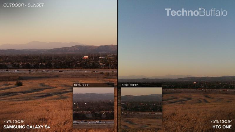 Samsung Galaxy S4 vs HTC One - Camera Comparison - Outdoor - Sunset - Distance