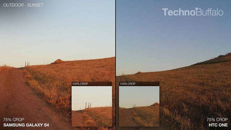 Samsung Galaxy S4 vs HTC One - Camera Comparison - Outdoor - Sunset - Hills