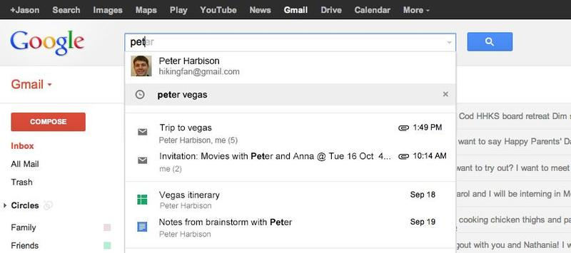 gmail search improvements