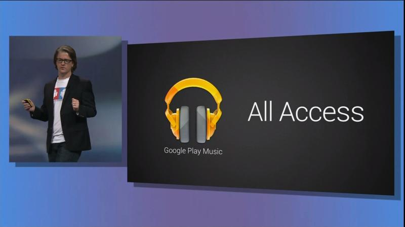 Google IO 2013 - Play Music - All Access - 001