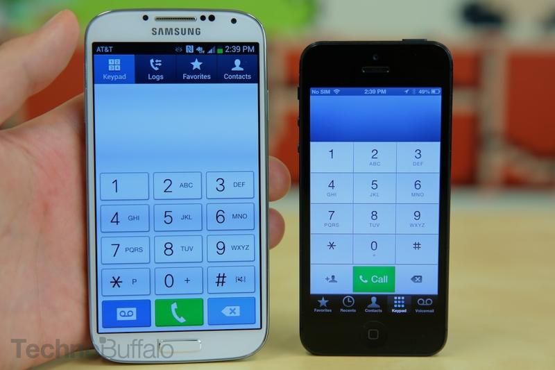 Samsung Galaxy S4 VS Apple iPhone 5-Dialer