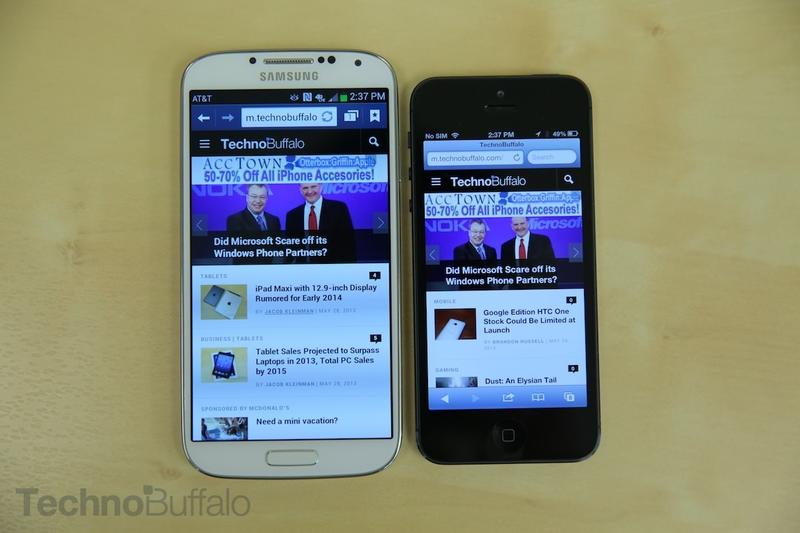 Samsung Galaxy S4 VS Apple iPhone 5-Web