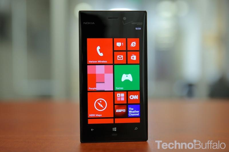 Verizon Nokia Lumia 928-Home Screen