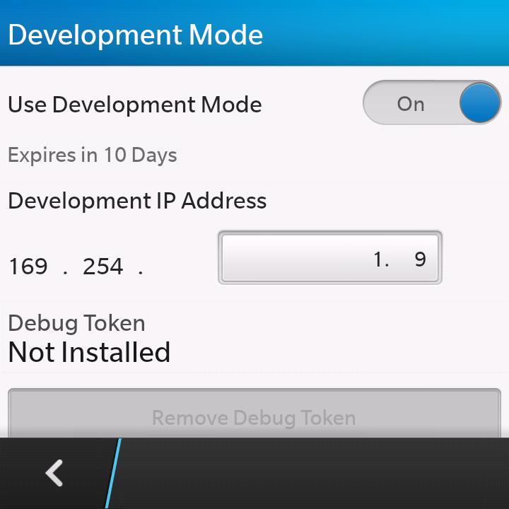 blackberry-development-mode
