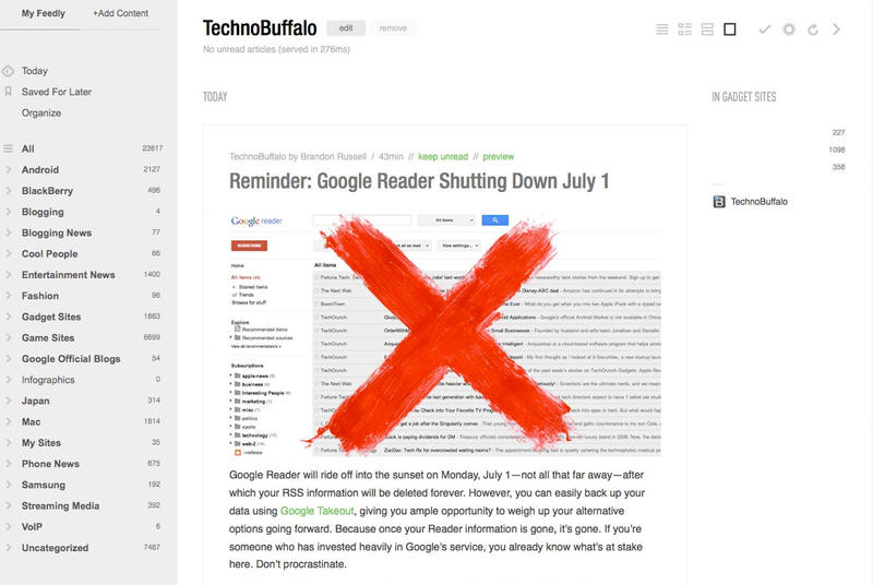 feedly reader view