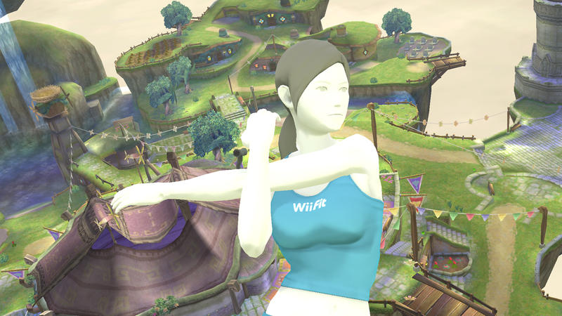 Wii Fit Trainer in Smash Bros - 1