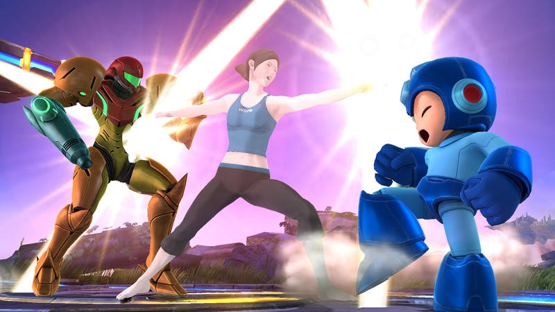 Wii Fit Trainer in Smash Bros - 3