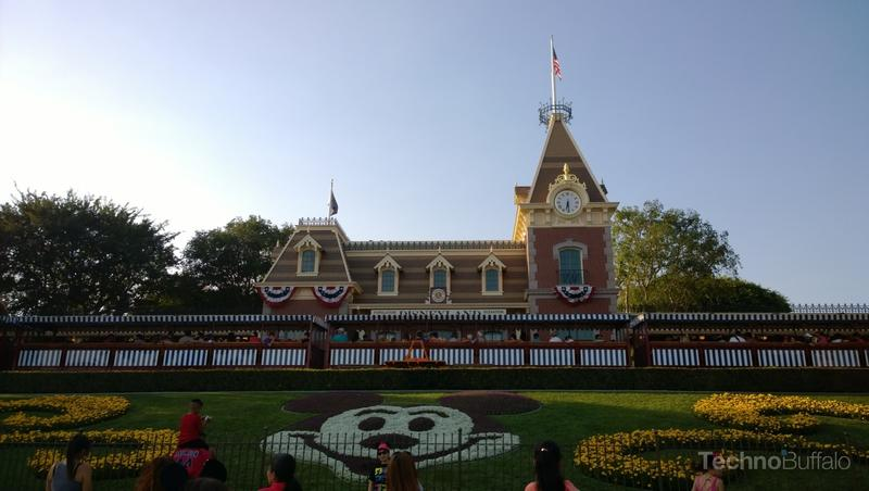 Now in Disneyland at the landmark entrance.