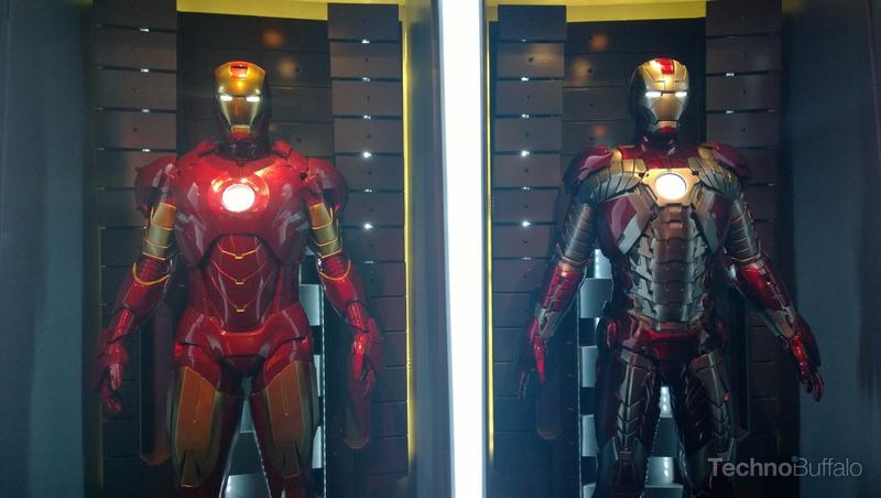 It displayed different iterations of Iron Man's suits.