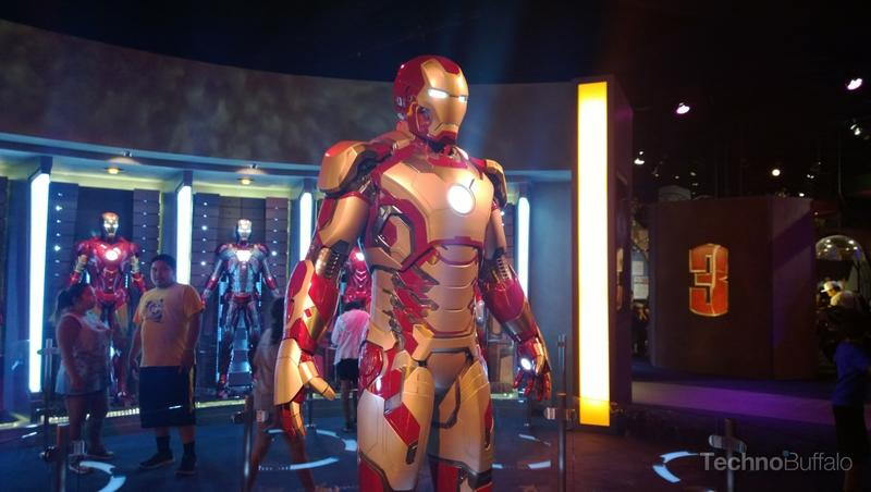 The really amazing Iron Man 3 exhibit in Tomorrowland.
