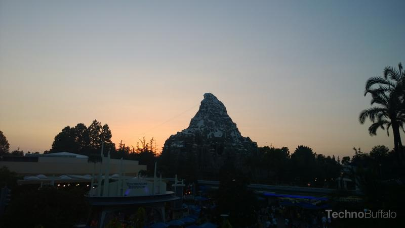 Matterhorn at sunset. Below us a cover band was playing an 80s song.