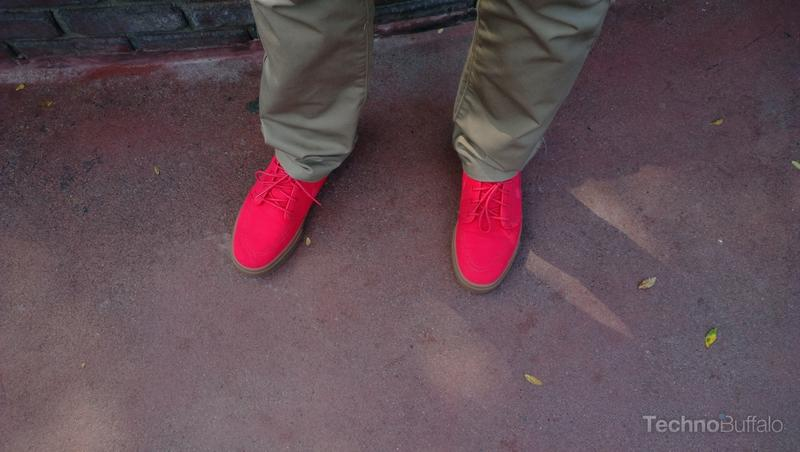 Ralph and his bright red Nike shoes outside of Disneyland.