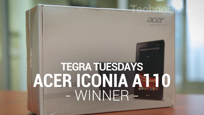 Acer Iconia A110 - Tegra Tuesday - Winner