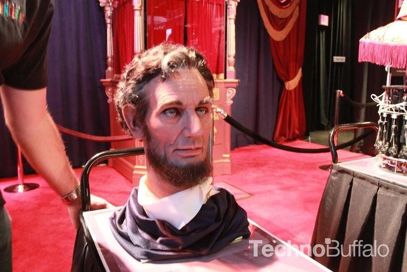 America's 16th President, Abraham Lincoln. Well, just his animatronic head.