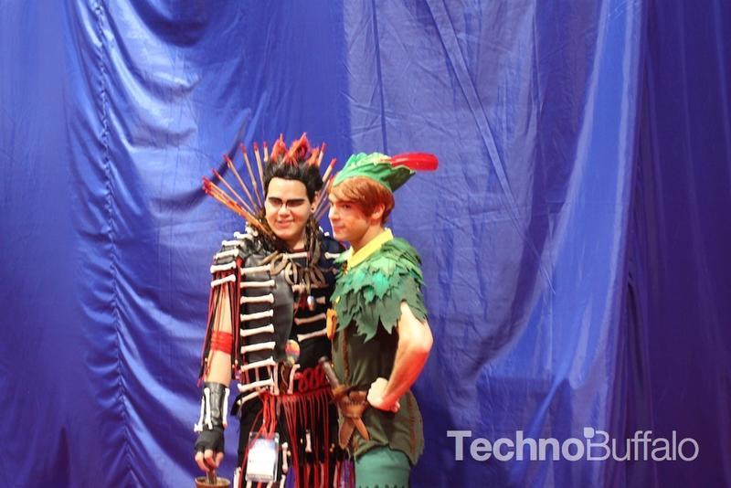 People like to dress up to their favorite charters. Here we have Rufio and Peter Pan.