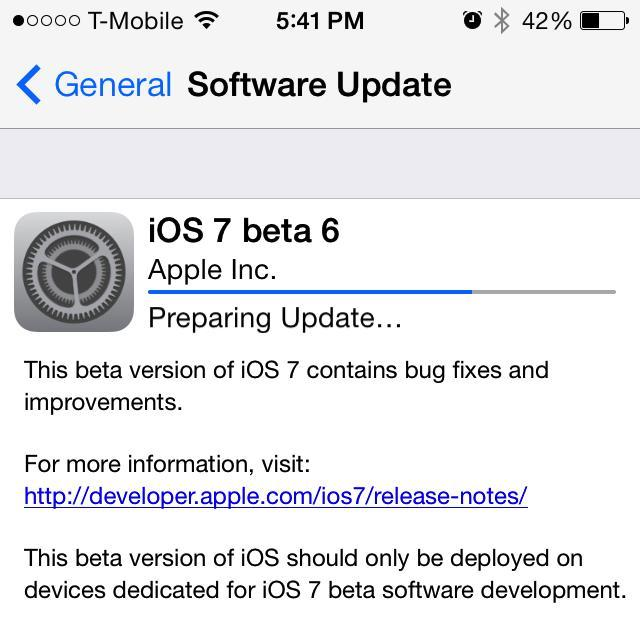 iOS 7 Beta 6 Available (Updated with Changelog) | TechnoBuffalo