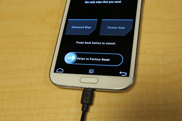 Rooting Galaxy Note 2 - Factory Reset