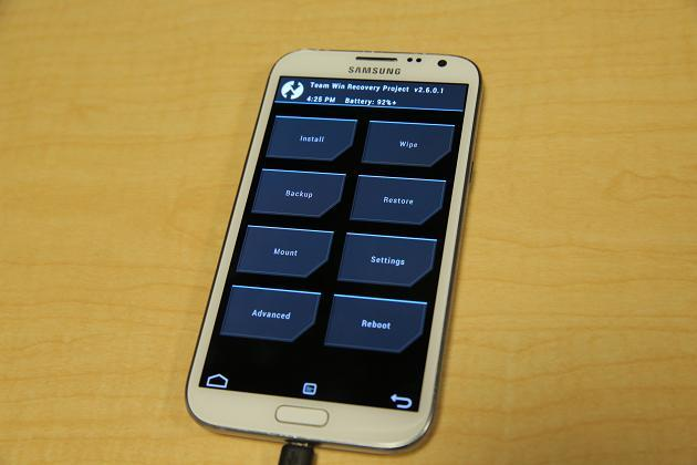 Rooting Galaxy Note 2 - TWRP Load