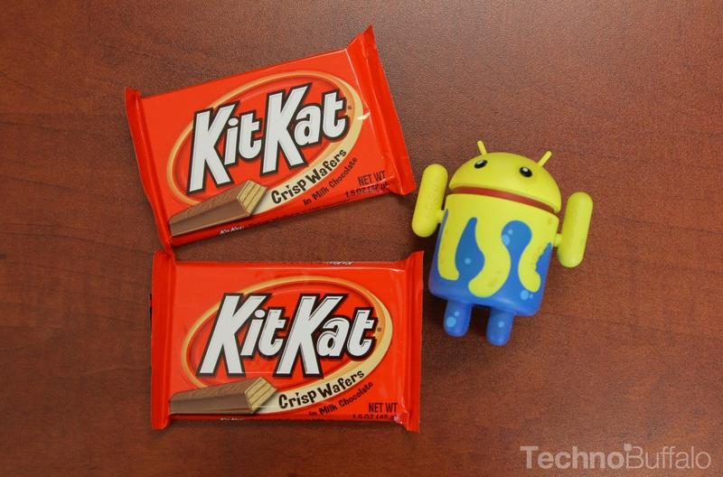Android KitKat - Two Bars, Android Mascat Yellow