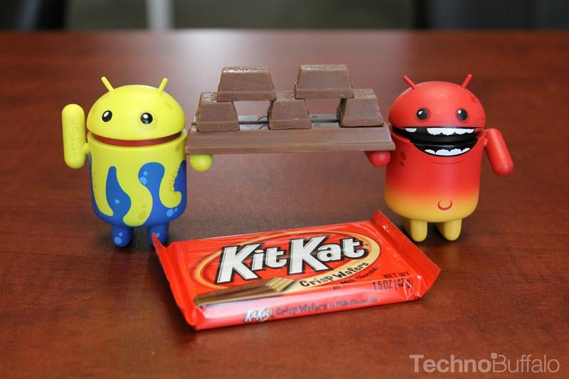 Android KitKat - Yellow and Red Mascots, KitKat Bar Feast