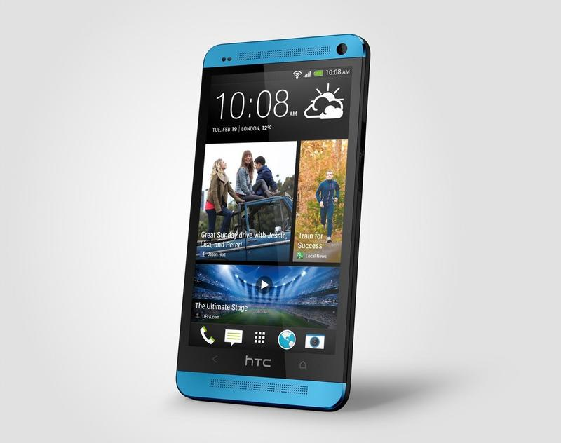 HTC One Vivid Blue Perspective Right