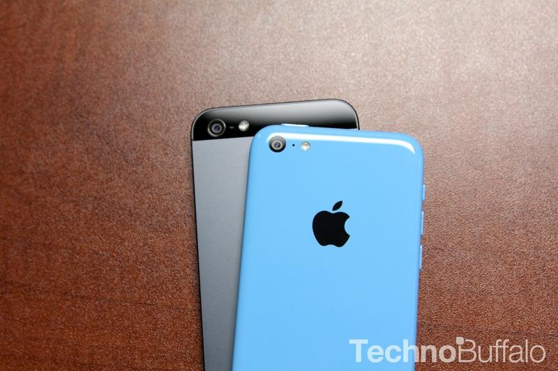 iPhone 5C in Blue with iPhone 5