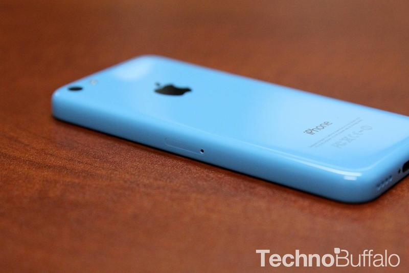 iPhone 5c in Blue SIM tray