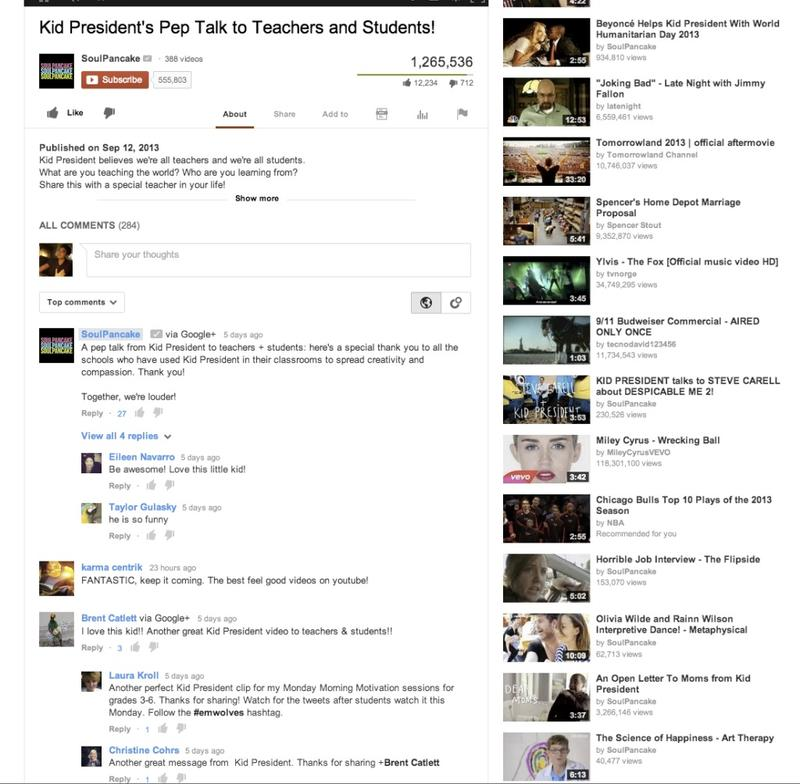 youtube google+ comments update