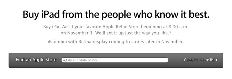 ipad air release time apple store