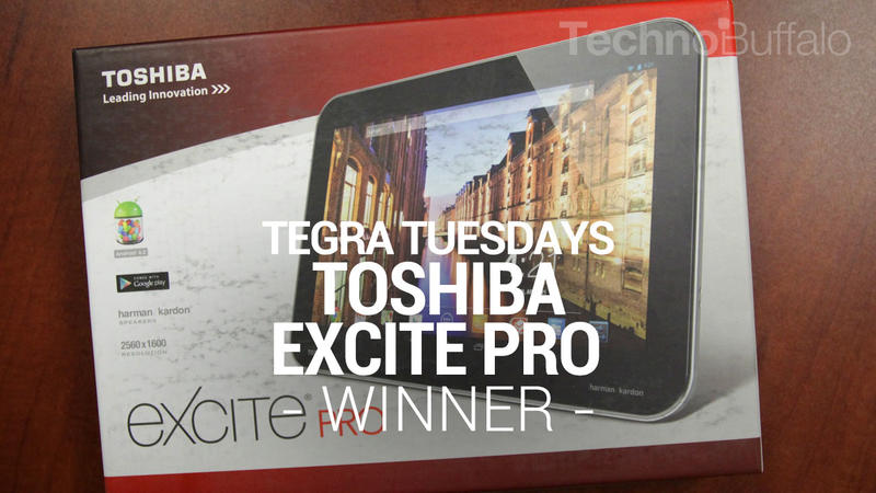 Toshiba Excite Pro - Tegra Tuesday - Giveaway - Winner