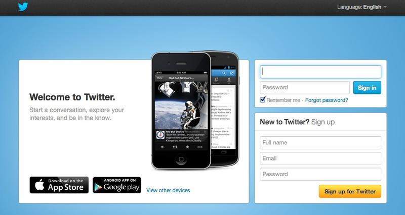 Twitter Homepage New mobile