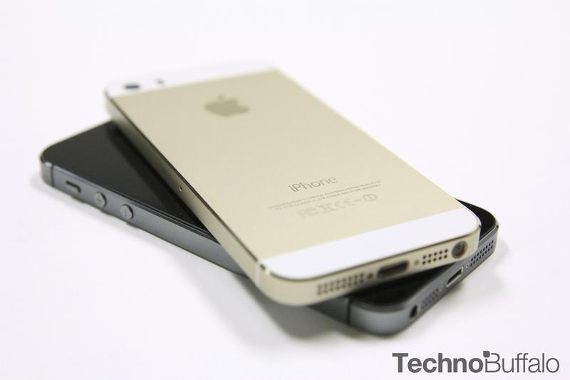 iPhone 5s Gold, Back, Black, Angle