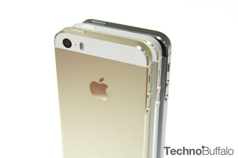 iPhone 5s Gold, Standing, Back