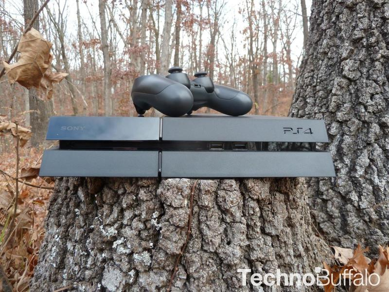 PlayStation 4 in the woods -03