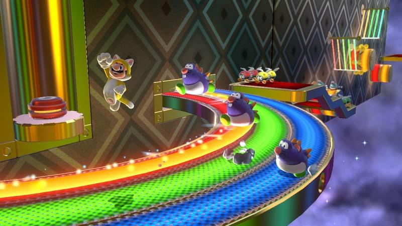 Super Mario 3D World - Cat Mario on Rainbow