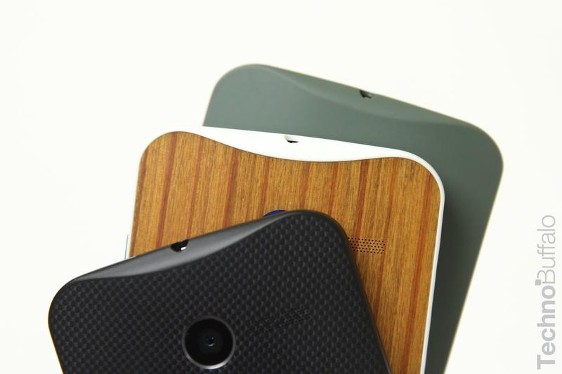 Moto X Wood Back - VS - Green Black-Top