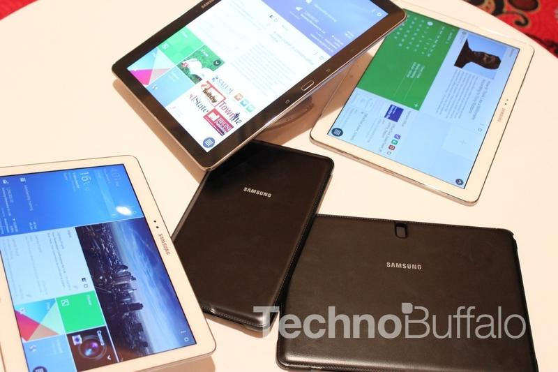 Samsung - New Galaxy Pro Tablets - Group Shot - CES 2014 - 031