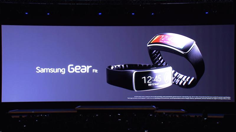 Fitness - Gear Fit - Specs - Samsung Unpacked 2014 - Galaxy S5 Event - MWC - 016