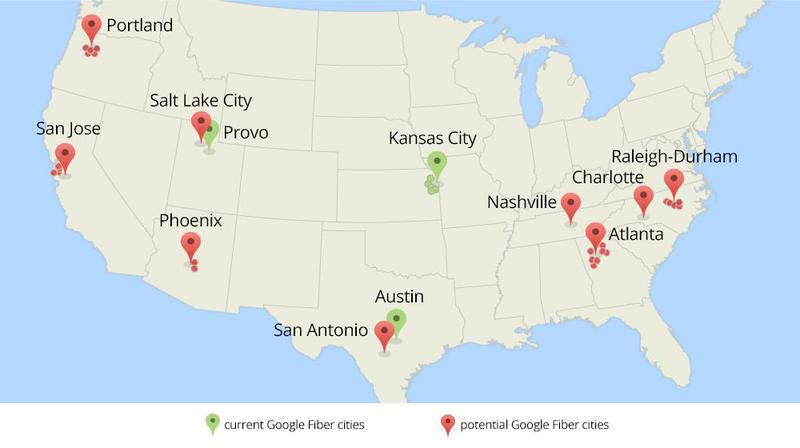 Google Fiber Roadmap Feb 2014