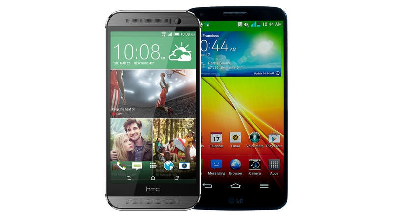 HTC One M8 vs LG G2