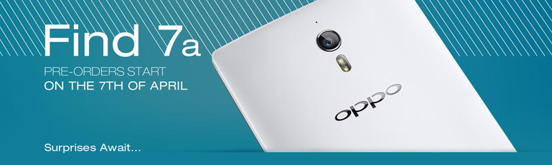 Oppo Find 7a preorders banner