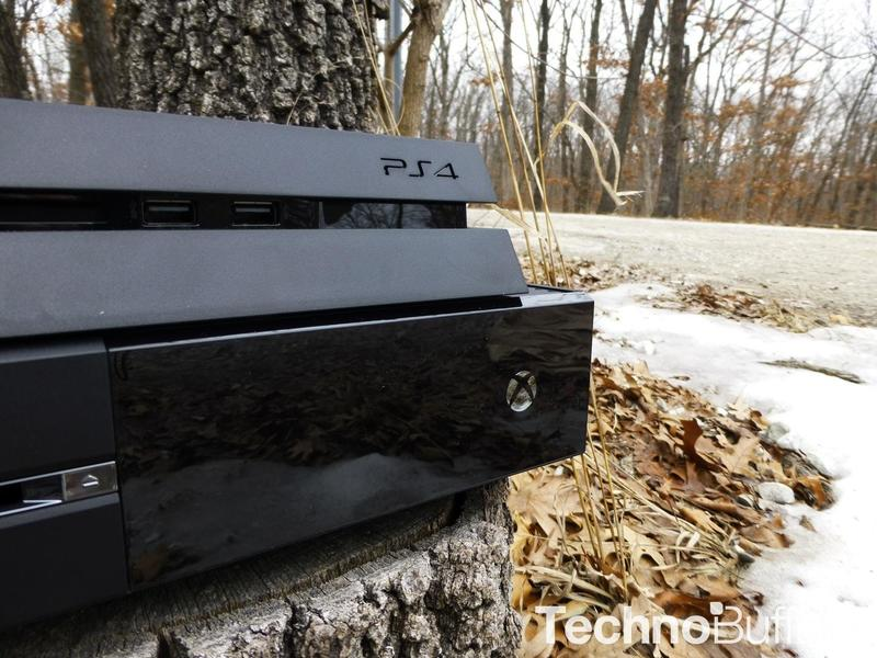 Xbox One and PS4 Consoles in the Woods -08
