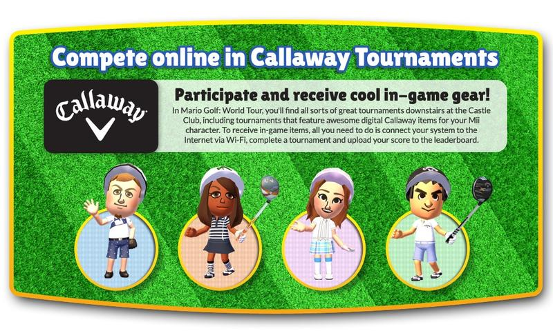 Callaway Golf Tournaments in Mario Golf