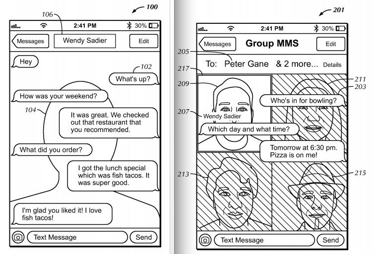 apple patent face messaging