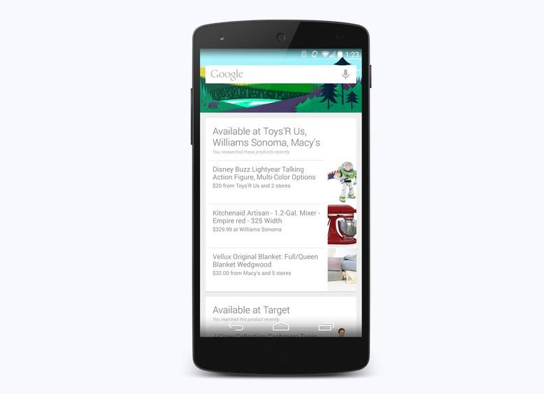 Google Now shopping update