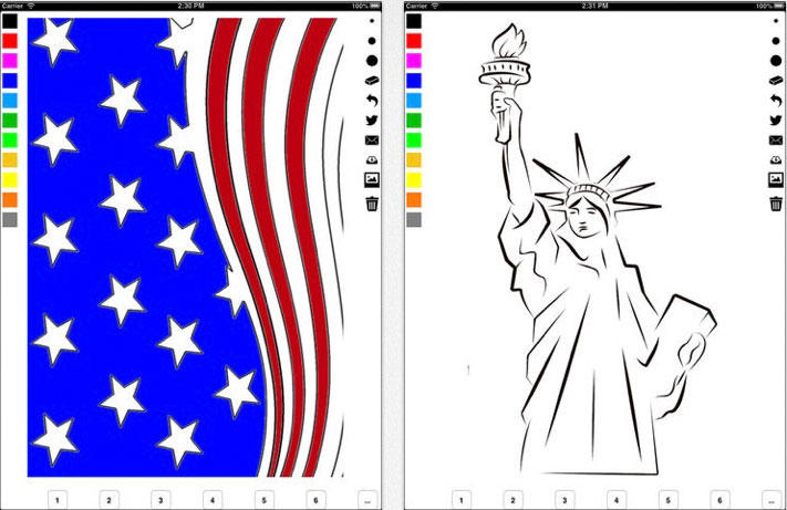 Independence Day Coloring Book for Children