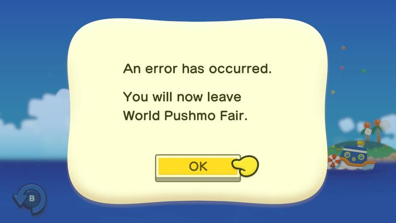 Pushmo World Fair is Down