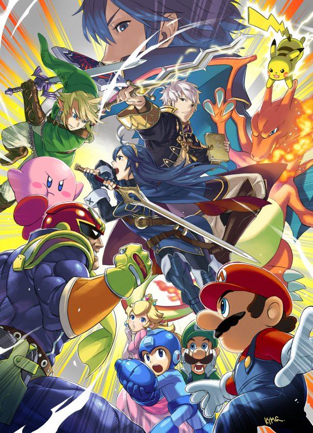 Super Smash Bros - Wii U and 3DS - Art