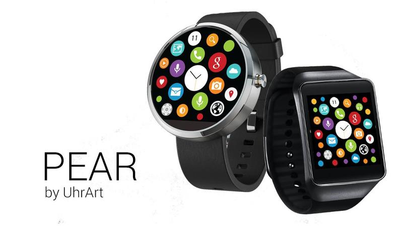 android wear pear apple watch homescreen