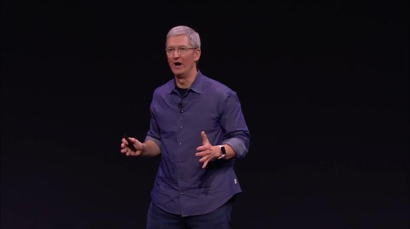 Apple iPhone Event 2014 -- Apple Watch Tim Cook Reaction 2